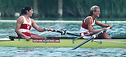 Banyoles, SPAIN, Gold Medalist,  Women's four, Stroke CAN W4- Kirsten BARNES , Jessica [Jessie] MONROE , Brenda TAYLOR and Kay WORTHINGTON, competing in the 1992 Olympic Regatta, Lake Banyoles, Barcelona, SPAIN. 92 Gold Medalist.   [Mandatory Credit: Peter Spurrier: Intersport Images]