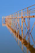 Stick pier on Lake Winnipeg<br /> Matlock<br /> Manitoba<br /> Canada