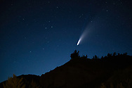Neowise Comet over the hills of Wyoming