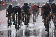 131 Elia Viviani Quick-Step Floors leads the sprinting pack to win during stage 17 of the Giro D'Italia, Iseo Italy on 23 May 2018. Picture by Graham Holt.