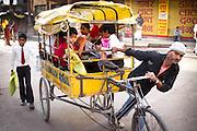 Children travel to school in Varanasi, India. Photograph by Debbie Zimelman, Modiin, Israel