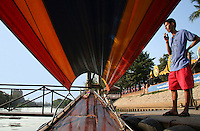 Thai Longtail Boat, Ayuthya - A fun and popular way to get around some the temples and sights of Ayutthaya is on a longtail boat along the moat which encircles the island and the old city.  Evening dinner cruises also offer picturesque views of the temples lit up at night.