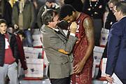 DESCRIZIONE : Campionato 2014/15 Virtus Acea Roma - Umana Reyer Venezia<br /> GIOCATORE : Luigi Brugnaro Julyan Stone<br /> CATEGORIA : Fair Play Ritratto Esultanza<br /> SQUADRA : Umana Reyer Venezia<br /> EVENTO : LegaBasket Serie A Beko 2014/2015<br /> GARA : Virtus Acea Roma - Umana Reyer Venezia<br /> DATA : 01/02/2015<br /> SPORT : Pallacanestro <br /> AUTORE : Agenzia Ciamillo-Castoria/GiulioCiamillo<br /> Predefinita :