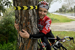 December 15, 2017 - Majorca, SPAIN - Belgian Jasper De Buyst of Lotto Soudal hugs a tree during a press day during Lotto-Soudal cycling team stage in Mallorca, Spain, ahead of the new cycling season, Friday 15 December 2017. BELGA PHOTO DIRK WAEM (Credit Image: © Dirk Waem/Belga via ZUMA Press)