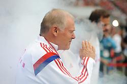 09.08.2014, Allianz Arena, Muenchen, GER, 1. FBL, FC Bayern München, Teampräsentation, im Bild Co-Trainer Hermann Gerland (FC Bayern Muenchen) // during the Team Presentation of German Bundesliga Club FC Bayern Munich at the Allianz Arena in Muenchen, Germany on 2014/08/09. EXPA Pictures © 2014, PhotoCredit: EXPA/ Eibner-Pressefoto/ Stuetzle<br /> <br /> *****ATTENTION - OUT of GER*****