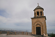 The Holy Trinity Monastery In Adjara, Georgia overlooking the city of Batumi