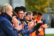 Burton Albion manager Nigel Clough giving a minutes applause during the EFL Sky Bet League 1 match between Burton Albion and Peterborough United at the Pirelli Stadium, Burton upon Trent, England on 27 October 2018.