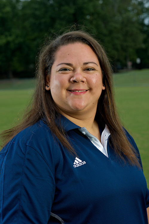 Aug 18, 2012; Morrow, GA, USA; Clayton State University's women's soccer assistant athletic trainer Stephanie Vasquez during team portraits. Photo by Kevin Liles/kdlphoto.com