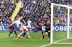 March 18, 2018 - Crotone, KR, Italy - STEPHAN EL SHAARAWY of Roma scores his team's first goal during the serie A match between FC Crotone and AS Roma at Stadio Comunale Ezio Scida on March 18, 2018 in Crotone, Italy. (Credit Image: © Gabriele Maricchiolo/NurPhoto via ZUMA Press)