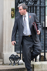 Downing Street, London, October 27th 2015.  Oliver Letwin leaves 10 Downing Street after attending the weekly cabinet meeting.