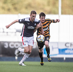 Falkirk's Rory Boulding and Alloa Athletic's Mark Docherty.<br /> Falkirk 2 v 1 Alloa Athletic, Scottish Championship game played 4/10/2014 at The Falkirk Stadium.