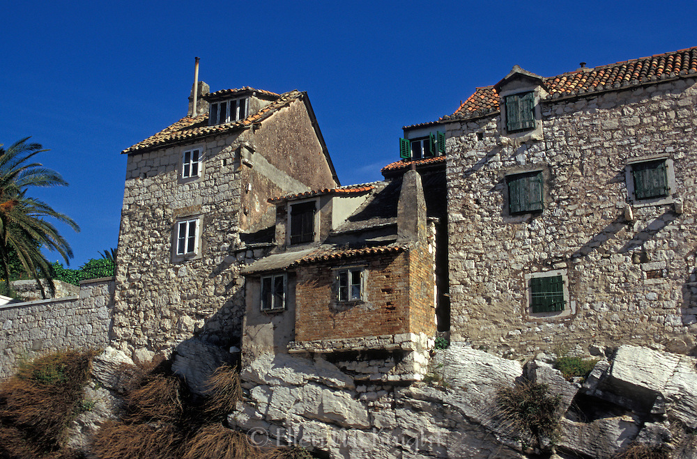 Stone houses in Split, Croatia