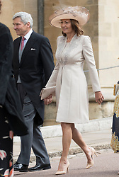 May 18, 2019 - Windsor, United Kingdom - Image licensed to i-Images Picture Agency. 18/05/2019. Windsor , United Kingdom. Michael and Carole Middleton arriving for the Lady Gabriella Windsor  at St.George's Chapel, Windsor, United Kingdom. (Credit Image: © Stephen Lock/i-Images via ZUMA Press)
