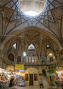 Stunning photographs reveal the beautiful ceilings in Iran's mosques, bazaars and public baths<br /> <br /> For the past few decades, restrictions on travel to Iran has meant the country has been largely shut off from the Western world, butas visa sanctions are lifted in the light of a landmark nuclear deal, the local tourism industry is hoping for a flurry of visitors.<br /> It's not hard to see why Iran is listed as one of the top travel destinations of 2016, with its rich culture and history.<br /> Among the standout aspects of the nation is its beautiful ancient architecture, with the cities and towns littered withornate and eye-catching mosques, public baths and markets.<br /> And unlike many other countries - the roof is not an afterthought, with many ceilings built as the centrepiece to the building, with many of the tile designs showcasing a display of intricate geometric patternsthatdate back several centuries.<br /> French photographerEric Lafforgue has travelled the country photographing the ceilings of indoor markets, mosques and bath houses.<br /> <br /> Photo shows: The Grand Bazaar Tehran is an old historical market in the capital that is split into several corridors over six miles in length, each specialising in different types of goods