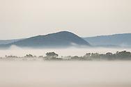 Morning fog in Pine Island, New York, on Sept.16, 2020.
