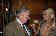 Don McCullin and the Countess of Milford Haven. Olga Polizzi and Rocco Forte host a party to celebrate the re-opening of Brown's Hotel  after a  £19 million renovation. Albermarle St. London. 12 December 2005. ONE TIME USE ONLY - DO NOT ARCHIVE  © Copyright Photograph by Dafydd Jones 66 Stockwell Park Rd. London SW9 0DA Tel 020 7733 0108 www.dafjones.com