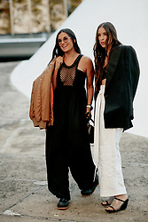 Street style, Demi Moore and her daughter Scout LaRue Willis arriving at Stella McCartney Spring Summer 2022 show, held at Espace Niemeyer, Paris, France, on October 4, 2021. Photo by Marie-Paola Bertrand-Hillion/ABACAPRESS.COM