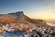 Hen Cloud, a dramatic mini-mountain in the Staffordshire Moorlands