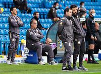 Leeds United manager Marcelo Bielsa and his team watch on<br /> <br /> Photographer Alex Dodd/CameraSport<br /> <br /> The EFL Sky Bet Championship - Leeds United v Luton Town - Tuesday 30th June 2020 - Elland Road - Leeds<br /> <br /> World Copyright © 2020 CameraSport. All rights reserved. 43 Linden Ave. Countesthorpe. Leicester. England. LE8 5PG - Tel: +44 (0) 116 277 4147 - admin@camerasport.com - www.camerasport.com