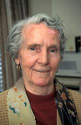 Portrait of elderly woman UK