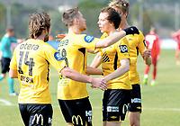 Fotball , 19. februar 2015 ,  privatkamp  <br /> Brann - Start<br /> Mattias Vilhjalmsson , Start scoret 3 mål i første omgang her med Rolf Daniel Vikstøl