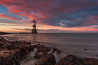 Sunset at Penmon Point lighthouse, Angeslsey, Wales