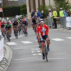 01-05-2021: Wielrennen: Elsy Jacobs: Luxembourg: Steinfort: Emma Norsgaard Jorgensen wint in Steinfort voor Maria Giulia Confalonieri en Leah Kirchmann