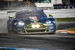 March 14, 2019 - Sebring, Etats Unis - 98 ASTON MARTIN RACING (GBR) ASTON MARTIN VANTAGE GTE AM PAUL DALLA LANA (CAN) PEDRO LAMY (PRT) MATHIAS LAUDA  (Credit Image: © Panoramic via ZUMA Press)