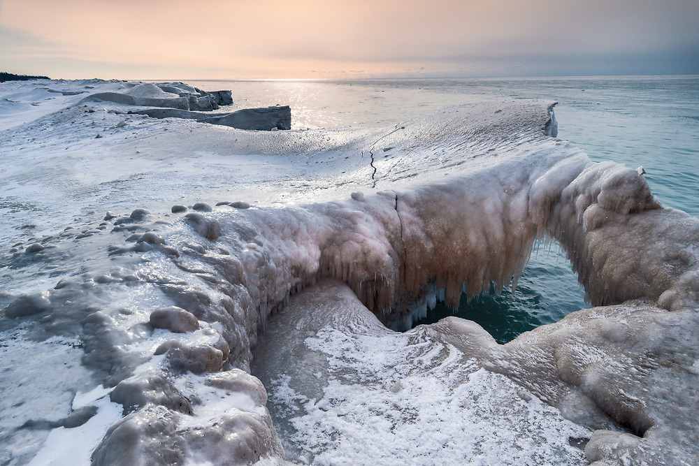 The winter of 2014 saw a good ice build up on the Lake Ontario Shoreline. This image was made at the Wicklow Beach Boatlaunch between Cobourg and Colborne