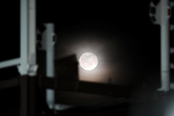 Moon shines over the south stand development  - Photo mandatory by-line: Joe Meredith /JMP - Mobile: 07966 386802 - 06/03/2015 - SPORT - Rugby - Bristol - Ashton Gate - Bristol Rugby v Nottingham Rugby - Greene King IPA Championship