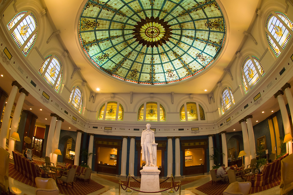 A statue of Thomas Jefferson in the lobby of the Jefferson Hotel, Richmond, Virginia USA