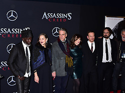 Michael K Williams , Marion Cotillard, Jeremy Irons and Michael Fassbender attend the Assassin's Creed premiere at AMC Empire 25 theater on December 13, 2016 in New York City, NY, USA. Photo by MM/ABACAPRESS.COM