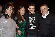 """Moscow, Russia, 07/03/2011..Azerbaijani rock singer Emin Agalarov with mother Irina, wife Leila Alieva, daugher of Azerbaijan President Ilkham Aliev, and father Aras. Agalarov has released 5 albums, and his first UK album """"Memory"""" is due for release. He is also the commercial director of the Crocus International company, founded by his father."""