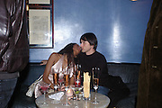 Santucia and Brett Anderson. Zac Posen Spring/ Summer collection launch party. The Blue Bar, Berkeley Hotel. London. 7 March 2004. Dafydd Jones,  ONE TIME USE ONLY - DO NOT ARCHIVE  © Copyright Photograph by Dafydd Jones 66 Stockwell Park Rd. London SW9 0DA Tel 020 7733 0108 www.dafjones.com