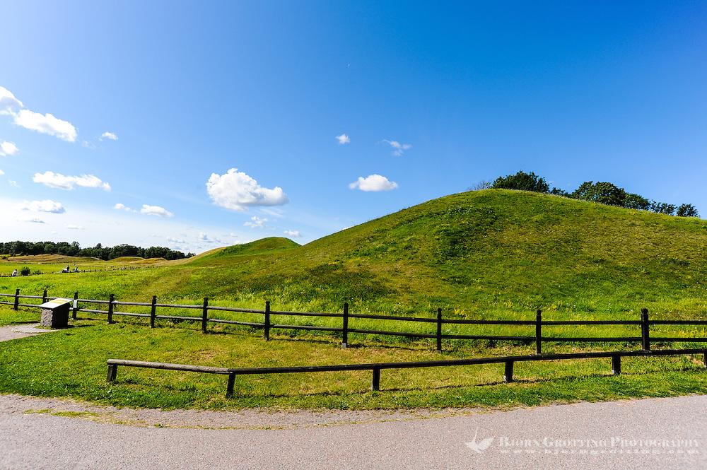 Sweden, Gamla Uppsala. The Royal mounds (Kungshögarna).