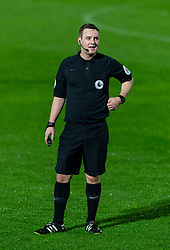 LONDON, ENGLAND - Friday, October 30, 2020: Referee James Durkin during the Premier League 2 Division 1 match between Arsenal FC Under-23's and Liverpool FC Under-23's at Meadow Park. Liverpool won 1-0. (Pic by David Rawcliffe/Propaganda)
