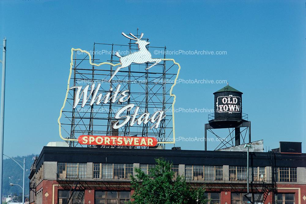 CS02285. White Stag sign. NW Burnside. September 19, 1975