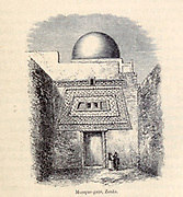 Mosque Gate, Zouia [Zouai, Algeria] From the Book ' Great Sahara: wanderings south of the Atlas Mountains. ' by Tristram, H. B. (Henry Baker),  Published by J. Murray in London in 1860