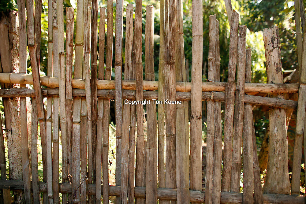 bamboo fence in Thailand