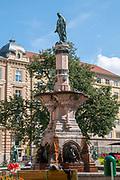 Rudolfsbrunnen in Bozner Platz Innsbruck, Tyrol, Austria