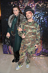 Left to right, DANIEL LISMORE and BOY GEORGE at a private view of Isabella Blow: Fashion Galore! held at Somerset House, London on 19th November 2013.