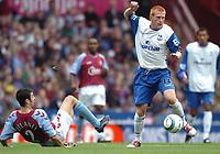 Credit: Back Page Images. Aston Villa v Crystal Palace, FA Premiership, 25/09/2004. Ben Watson (Crystal Palace) gets away from Mark Delaney (Aston Villa)