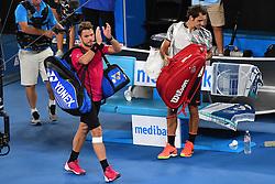 January 26, 2017 - Melbourne, AUSTRALIA - Roger Federer (Sui) def Stan Wawrinka  (Credit Image: © Panoramic via ZUMA Press)