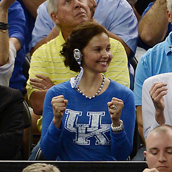 Mar 31, 2012; New Orleans, LA, USA; Film actress Ashley Judd reacts during the second half in the semifinals of the 2012 NCAA men's basketball Final Four between the Louisville Cardinals and Kentucky Wildcats at the Mercedes-Benz Superdome. Mandatory Credit: Derick E. Hingle-US PRESSWIRE