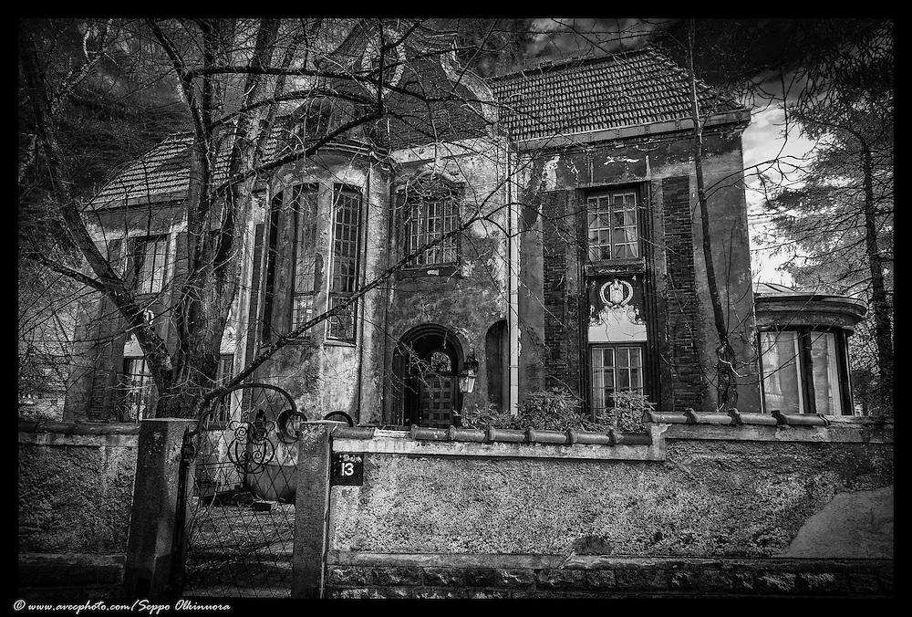 Spooky ruined Jugend villa in Helsinki, Finland.