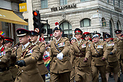 Pride in London, formally known as Pride London, is an annual LGBT pride festival and parade held each summer in London, United Kingdom. A group of Army soldiers march in the parade.