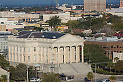 Aerial view of the old Custom House Charleston, South Carolina.