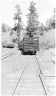"""RGS west derail at Franklin Junction.  This was on the sidng to the Boston Coal & Fuel Co. facilities.<br /> RGS  Franklin Junction, CO  Taken by Peyton, Ernie S. - 3/1948<br /> An almost exact photo is in """"RGS Story Vol. XI"""", p. 361 by Donald Duke in 9/1949.  This could also be the date.<br /> Thanks to Don Bergman for additional information."""