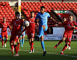 Coventry City's Jordon Thompson attempts a shot on goal.
