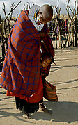 Maasai mother and her child.